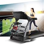 Máy chạy bộ tại nhà đa chức năng màn hình màu có thể gấp gọn vô cùng tiện lợi GTS3D