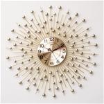 Đồng hồ treo tường pha lê mặt trời vàng vô cùng ấn tượng BS6008_70YL