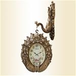 Đồng hồ treo tường con công hai mặt độc đáo phong cách Hoàng Gia Anh 8822-GOLD