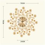 Đông hồ hoa pha lê với điểm nhấn là nhụy hoa bằng pha lê rất ấn tượng 1966-MV