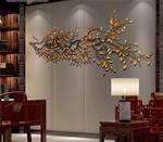 Cành cây lá vàng 3D thiết kế ấn tượng cho không gian thêm sang trọng 003 khổ 1,8m