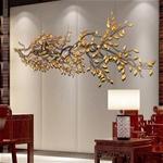 Cành cây lá vàng 3D thiết kế ấn tượng cho không gian thêm sang trọng 003 khổ 2m