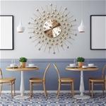 Đồng hồ treo tường pha lê mặt trời vàng vô cùng ấn tượng BS6008_65YL