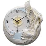 Đồng hồ gốm thiên nga trắng nổi bật cho không gian thêm ấn tượng M0022_BE