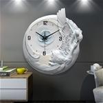 Đồng hồ gốm thiên nga trắng nổi bật cho không gian thêm ấn tượng M0022_BU