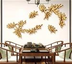 Bộ lá vàng trang trí 3D tuyệt đẹp cho không gian thêm sống động đầy ấn tượng FAN-2128