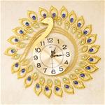 Đồng hồ treo tường thiết kế hình chim công cách điệu vô cùng đẹp và ấn tượng BS3317-X