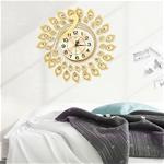 Đồng hồ treo tường thiết kế hình chim công cách điệu vô cùng đẹp và ấn tượng BS3317-TR