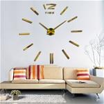Đồng hồ dán tường phong cách Châu Âu hiện đại GZ-200 màu vàng