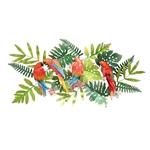 Decor sắt trang trí 3D khu rừng sắc màu sống động 1045