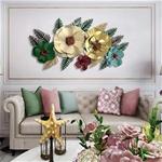 Decor hoa sắt trang trí 3D sắc màu hiện đại 608