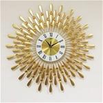 Đồng hồ treo tường hình chiếc lá và giọt sương vàng LM8178C-70TV