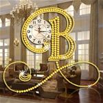 Đồng hồ treo tường Bisa thiết kế ấn tượng hiện đại cho không gian thêm nổi bật BS5555-80