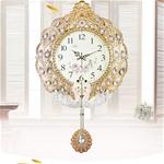 Đồng hồ treo tường đậm chất hoàng gia, được làm từ hợp kim cao cấp kết hợp với đá pha lê. bảo hành 10 năm