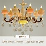 Đèn chùm pha lê nến kiểu Ý sang trọng đầy ấn tượng 1807-8