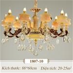 Đèn chùm pha lê nến kiểu Ý sang trọng đầy ấn tượng 1807-10