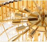 Đèn chùm pha lê phong cách Châu Âu sang trọng đầy ấn tượng 8532 màu vàng size 60*70cm