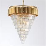 Đèn chùm pha lê phong cách Châu Âu sang trọng đầy ấn tượng 8532 màu trắng size 80*90cm