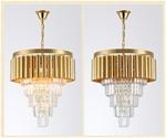 Đèn chùm pha lê phong cách Châu Âu sang trọng đầy ấn tượng 8532 màu trắng size 40*48cm