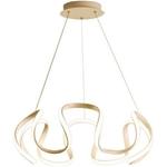 Đèn thả trần phòng khách phong cách sang trọng đầy ấn tượng làm mờ ánh sáng + điều khiển từ xa 2225 size 80cm màu vàng