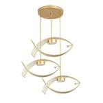 Đèn thả trần thiết kế hình cá cho không gian hiện đại ấn tượng đầu đơn màu vàng 6546