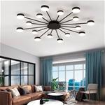 Đèn trần phòng khách phong cách Bắc Âu ấn tượng MH047 16 bóng khung đen