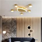 Đèn trần phòng khách phong cách Bắc Âu ấn tượng 9620-X5 size 52cm