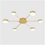 Đèn trần phòng khách phong cách Bắc Âu ấn tượng MH047 6 bóng khung vàng