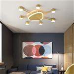 Đèn trần phòng khách phong cách Bắc Âu ấn tượng 9620-X6 size 62cm