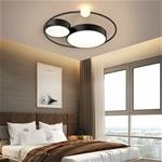 Đèn trần thiết kế độc đáo lạ mắt cho không gian thêm ấn tượng XH-H6837 màu đen size 55cm