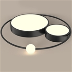 Đèn trần thiết kế độc đáo lạ mắt cho không gian thêm ấn tượng XH-H6837 màu đen size 45cm