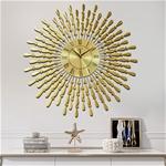 Đồng hồ treo tường hình chiếc lá và giọt sương vàng 90cm