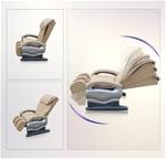 Ghế massage tự động cho toàn thân hoàn toàn thư giãn và sảng khoái 2015 màu be