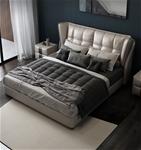 Giường da Bắc Âu cho phòng ngủ hiện đại và sang trọng hơn kèm nệm cao su 886