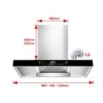 Máy hút mùi bếp kiểu dáng hiện đại nâng cấp 24 khối + làm sạch