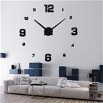 Đồng hồ dán tường phong cách Châu Âu hiện đại TG009-130 màu đen