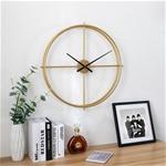 Đồng hồ treo tường trang trí phong cách Bắc Âu ấn tượng 1286 size 51cm màu vàng