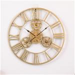 Đồng hồ trang trí thiết kế bánh răng ấn tượng XY2024 size 50cm màu vàng
