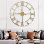 Đồng hồ treo tường trang trí phong cách Bắc Âu ấn tượng A95 màu vàng