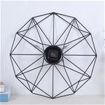 Đồng hồ treo tường nghệ thuật cách điệu cho không gian thêm ấn tượng YX2048 màu đen