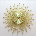 Đồng hồ treo tường tia vàng cho không gian hiện đại thêm ấn tượng BS1927