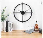 Đồng hồ treo tường trang trí phong cách Bắc Âu ấn tượng 1286 size 51cm màu đen