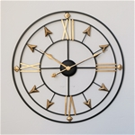 Đồng hồ treo tường trang trí phong cách Bắc Âu ấn tượng YX2006 màu đen