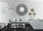 Đồng hồ treo tường hình chiếc lá và giọt sương sẽ là điểm nhấn đặc biệt cho không gian nhà bạn BS60001-90