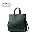Túi xách nữ da bò hiệu LANVERA phong cách Châu Âu bảo hành 5 năm L2018