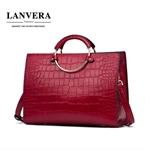 Túi xách nữ da bò hiệu LANVERA phong cách Châu Âu mẫu mới nhất 2017 L2015