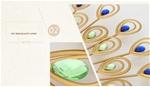 Đồng hồ treo tường công vàng thương hiệu Bisa cho không gian đặc biệt sang trọng BS1719