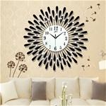 Đồng hồ treo tường hình chiếc lá và giọt sương sẽ là điểm nhấn đặc biệt cho không gian nhà bạn BS60001