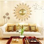 Đồng hồ treo tường đuôi công đậm chất nghệ thuật tạo nên nét riêng cho không gian nhà bạn BS60003