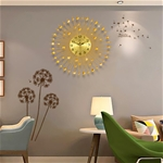 Đồng hồ treo tường mặt trời thương hiệu Bisa BS60006